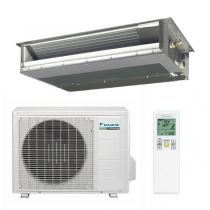 Daikin 12,000 btu 15.5 SEER Heat Pump & Air Conditioner Slim Duct Built-in Concealed Ceiling FDXS12LVJU / RXS12LVJU