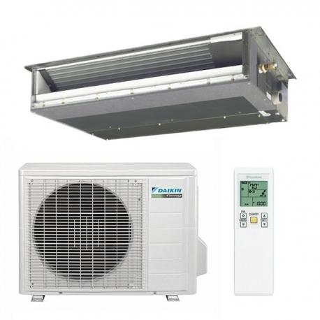 Daikin 12,000 btu 15.5 SEER Heat Pump & Air Conditioner Slim Duct Built-in Concealed Ceiling FDXS12LVJU / RXS12LVJU