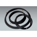 "25 ft of Mueller 1/4"" x 3/8"" mini split lineset with 1/2"" insulation and 25 ft of Southwire 14/4 communication cable"