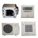 Fujitsu 12RLFCC 12,000 BTU 21.9 SEER Heat & Air Conditioner Ductless Ceiling Recessed Cassette Mini Split AUU12RLF / AOU12RLFC