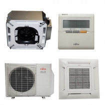 Fujitsu 12RLFCC 12,000 BTU 21.9 SEER Heat & Air Conditioner Ductless Ceiling Recessed Cassette Mini Split AUU12RLF / AOU12RLFC