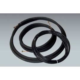 "15 ft. of Mueller 1/4"" x 1/2"" mini split lineset with 1/2"" insulation and 15 ft. of 14/4 communication cable"