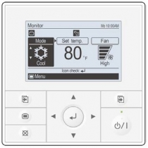 Fujitsu UTY-RVNUM Wired Remote Controller with Large backlight LED screen