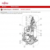 FUJITSU K9970098031 COIL EXPANSION VALVE A AOHFI RED HAM-MD12KG-203 L 690