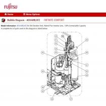 FUJITSU COIL EXPANSION VALVE B AOHFI CAM-MD12KG-206 L 650