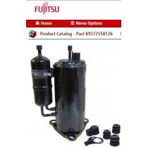 FUJITSU K9372558126 COMPRESSOR ASSY HY DW 5KD240XAD21 3HP DC ROT 2 CYL