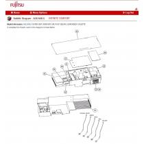 FUJITSU K9900621001 THERMISTOR DISCHARGE PIPE HFI DTN-W513H6P-FTZ136W L1 650 YLW