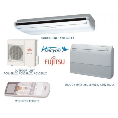Fujitsu 36RSLX 36,000 BTU 14.0 SEER Heat Pump & Air Conditioner Ductless Mini Split ABU36RSLX / AOU36RLX