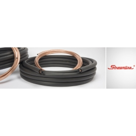 """25 ft of Mueller 1/4"""" x 1/2"""" mini split lineset with 1/2"""" insulation and 25 ft of Southwire 14/4 communication cable"""
