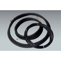 "20 ft. of Mueller 1/4"" x 1/2"" mini split line set with 1/2"" insulation and 20 ft. of 14/4 communication cable"